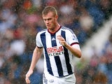 Chris Brunt of West Bromwich Albion in action during the Barclays Premier League match between West Bromwich Albion and Chelsea at the Hawthorns on August 23, 2015