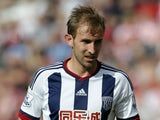 Craig Dawson of West Bromwich Albion during the Barclays Premier League match between Stoke City and West Bromwich Albion at Britannia Stadium on August 29, 2015 in Stoke on Trent, England.