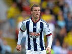 Craig Gardner of West Bromwich Albion during the Barclays Premier League match between Watford and West Bromwich Albion at Vicarage Road on August 15, 2015