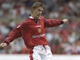 David Beckham of Manchester United in action during the Umbro Cup pre-season tournament between Ajax, Chelsea, Manchester United and Nottingham Forest at the City Ground in Nottingham in 1996.