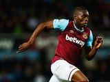 Diafra Sakho of West Ham United in action during the Barclays Premier League match between West Ham United and Newcastle United at the Boleyn Ground on September 14, 2015 in London, United Kingdom.