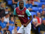 Doneil Henry of West Ham United during the Pre Season Friendly match between Peterborough United and West Ham United at London Road Stadium on July 11, 2015 in Peterborough, England.