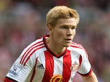 Duncan Watmore of Sunderland during the Barclays Premier League match between Sunderland and Tottenham Hotspur at the Stadium of Light on September 13, 2015 in Sunderland, United Kingdom.