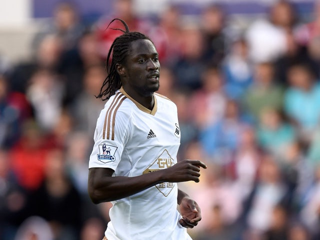 Swansea player Eder in action during the Pre season friendly match between Swansea City and Deportivo La Coruna at Liberty Stadium on August 1, 2015