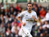 Swansea player Gylfi Sigurdsson in action during the Pre season friendly match between Swansea City and Deportivo La Coruna at Liberty Stadium on August 1, 2015