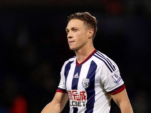 James Chester of West Bromwich Albion during the Capital One Cup Second Round match between West Bromwich Albion and Port Vale at The Hawthorns on August 25, 2015