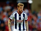 James McClean of West Bromwich Albion in action during the Barclays Premier League match between Aston Villa and West Bromwich Albion at Villa Park on September 19, 2015