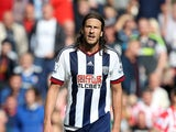 Jonas Olsson of West Bromwich Albion during the Barclays Premier League match between Stoke City and West Bromwich Albion at Britannia Stadium on August 29, 2015
