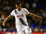 Kevin Wimmer of Tottenham Hotspur on the ball during the UEFA Europa League Group J match between Tottenham Hotspur FC and Qarabag FK at White Hart Lane on September 17, 2015 in London, United Kingdom.