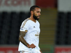 Swansea player Kyle Bartley in action during the Capital One Cup Second Round match between Swansea City and York City at Liberty Stadium on August 25, 2015