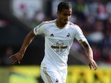 Kyle Naughton of Swansea City in action during the Barclays Premier League match between Swansea City and Everton on September 19, 2015