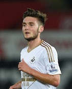 Swansea player Matt Grimes in action during the Capital One Cup Second Round match between Swansea City and York City at Liberty Stadium on August 25, 2015