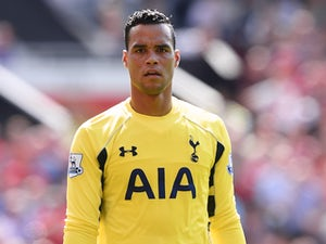 Michel Vorm of Tottenham looks on during the Barclays Premier League match between Manchester United and and Tottingham Hotspur at Old Trafford, Manchester.