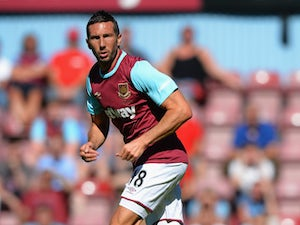Morgan Amalfitano of West Ham United during the Betway Cup match between West Ham Utd and SV Werder Bremen at Boleyn Ground on August 2, 2015 in London, England.