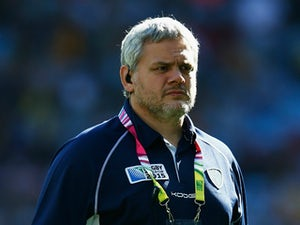 Pablo Lemoine, Head Coach of Uruguay looks on prior to the 2015 Rugby World Cup Pool A match between Australia and Uruguay at Villa Park on September 27, 2015 in Birmingham, United Kingdom.