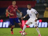 Ricardo Quaresma (R) of Portugal in action against Nemanja Matic (L) of Serbia during the Euro 2016 qualifying football match between Serbia and Portugal at the Stadium FC Partizan in Belgrade on October 11, 2015.