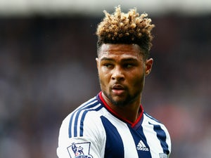 Serge Gnabry of West Brom looks on during the Barclays Premier League match between West Bromwich Albion and Chelsea at the Hawthorns on August 23, 2015 in West Bromwich, United Kingdom.