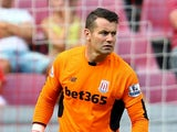 Shay Given of Stoke City kicks the ball during the Colonia Cup 2015 match between FC Porto and Stoke City FC at RheinEnergieStadion on August 2, 2015 in Cologne, Germany.