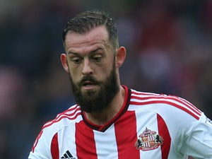 Steven Fletcher of Sunderland controls the ball during the Barclays Premier League match between Sunderland and West Ham United at The Stadium of Light on October 03, 2015 in Sunderland, England.