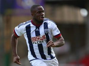 Victor Anichebe of West Bromwich Albion during the Pre-Season Friendly match between Swindon Town and West Bromwich Albion at the County Ground on July 25, 2015