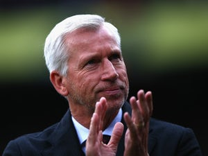 Alan Pardew Manager of Crystal Palace looks on prior to the Barclays Premier League match between Crystal Palace and West Ham United at Selhurst Park on October 17, 2015