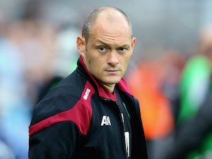 Alex Neil manager of Norwich City looks on during the Barclays Premier League match between Newcastle United and Norwich City at St James' Park on October 18, 2015 in Newcastle upon Tyne, England.
