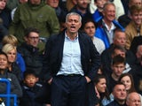 Jose Mourinho Manager of Chelsea looks on during the Barclays Premier League match between Chelsea and Aston Villa at Stamford Bridge on October 17, 2015