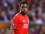 Divock Origi of Liverpool in action during the UEFA Europa League group B match between Liverpool FC and FC Sion at Anfield on October 1, 2015 in Liverpool, United Kingdom.