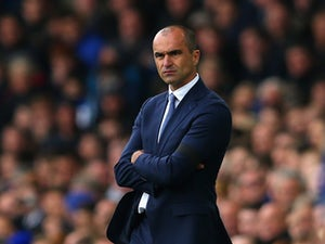 Roberto Martinez manager of Everton looks on during the Barclays Premier League match between Everton and Manchester United at Goodison Park on October 17, 2015