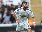 Swansea City's Spanish defender Jordi Amat controls the ball during the English Premier League football match between Newcastle and Swansea City at St James Park Newcastle, northeast England on April 25, 2015.