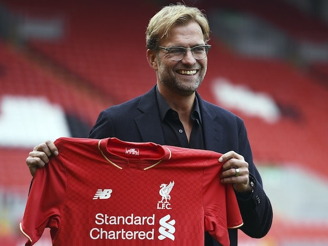 New Liverpool manager Jurgen Klopp at Anfield on October 9, 2015
