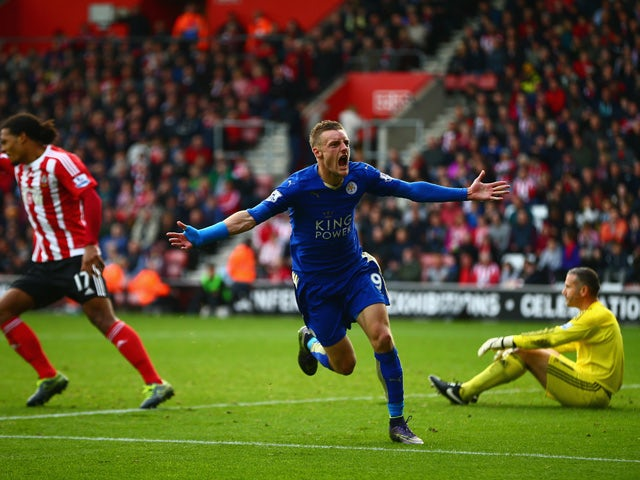 Result: Vardy scores late equaliser for Leicester
