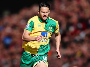 Matthew Jarvis of Norwich City in action during the Barclays Premier League match between Norwich City and A.F.C. Bournemouth on September 12, 2015 in Norwich, United Kingdom.