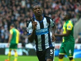 Georginio Wijnaldum of Newcastle United celebrates as he scores the opening goal during the Barclays Premier League match between Newcastle United and Norwich City at St James' Park on October 18, 2015 in Newcastle upon Tyne, England.