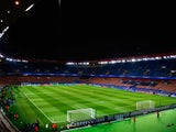 A general view prior to the UEFA Champions League Round of 16 match between Paris Saint-Germain and Chelsea at Parc des Princes on February 17, 2015