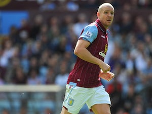 Aston Villa defender Philippe Senderos in action during the Barclays Premier League match between Aston Villa and Hull City at Villa Park on August 31, 2014 in Birmingham, England.