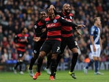 Matt Phillips of Queens Park Rangers celebrates his sides first goal (C) during the Sky Bet Championship match between Birmingham City and Queens Park Rangers at St Andrews on October 17, 2015