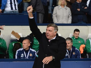 Sam Allardyce, manager of Sunderland looks on prior to the Barclays Premier League match between West Bromwich Albion and Sunderland at The Hawthorns on October 17, 2015