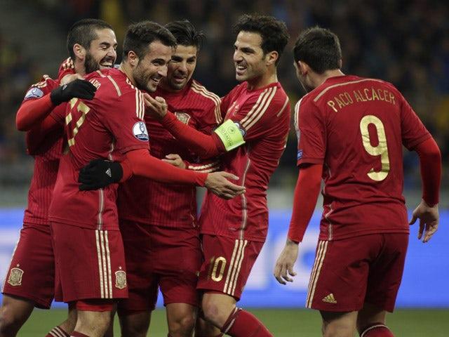 Result: Debut Gaspar strike earns Spain victory in Kiev