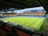 A picture taken on September 18, 2012 in Montpellier, southern France shows the La Mosson stadium ahead of the UEFA Champions League football match Montpellier Herault SC versus Arsenal FC.