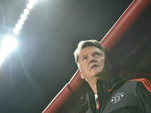Manchester United's Dutch coach Louis van Gaal looks on prior to the UEFA Champions League group B football match between PFC CSKA Moscow and FC Manchester United at the Arena Khimki stadium outside Moscow on October 21, 2015.