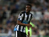 Ivan Toney of Newcastle United in action during the Capital One Cup Second Round between Newcastle United and Northampton Town at St James' Park on August 25, 2015