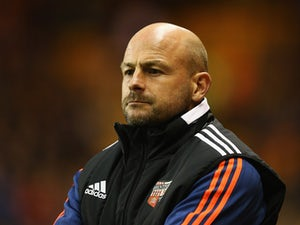 Lee Carsley, manager of Brentford looks on during the Sky Bet Championship match between Wolverhampton Wanderers and Brentford at Molineux on October 21, 2015