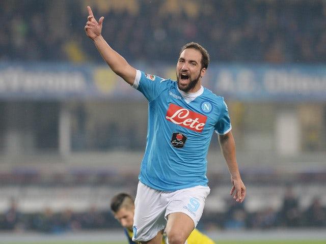Result: Higuian, Mertens fire Napoli to win