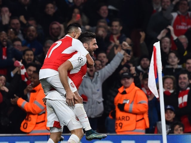 Result: Giroud, Ozil lead Arsenal to Bayern win