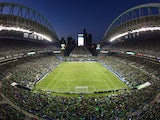 A general view during the match between the Seattle Sounders FC and the Portland Timbers at CenturyLink Field on October 7, 2012
