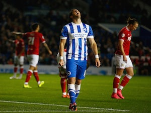 Brighton trailing at home to Bristol City