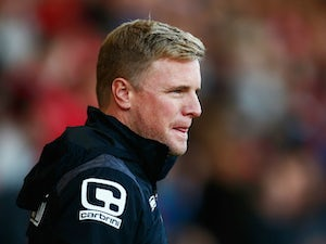 Eddie Howe Manager of Bournemouth looks on during the Barclays Premier League match between A.F.C. Bournemouth and Tottenham Hotspur at Vitality Stadium on October 25, 2015 in Bournemouth, England.