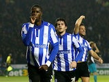 Lucas Joao of Sheffield Wednesday celebrates after scoring his team's second goal during the Capital One Cup fourth round match between Sheffield Wednesday and Arsenal at Hillsborough Stadium on October 27, 2015 in Sheffield, England.