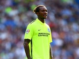Gaetan Bong of Brighton looks on during the Pre Season Friendly between Brighton & Hove Albion and Seville at Amex Stadium on August 2, 2015